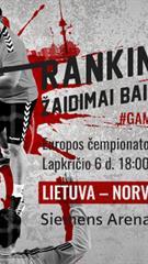 Europos rankinio čempionatas: Lietuva - Norvegija