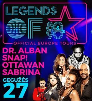 80`s 90`s legendos: Sabrina, Ottawan, Snap!, Dr. Alban