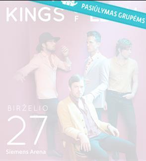 Pasiūlymas grupėms: KINGS OF LEON - WALLS tour