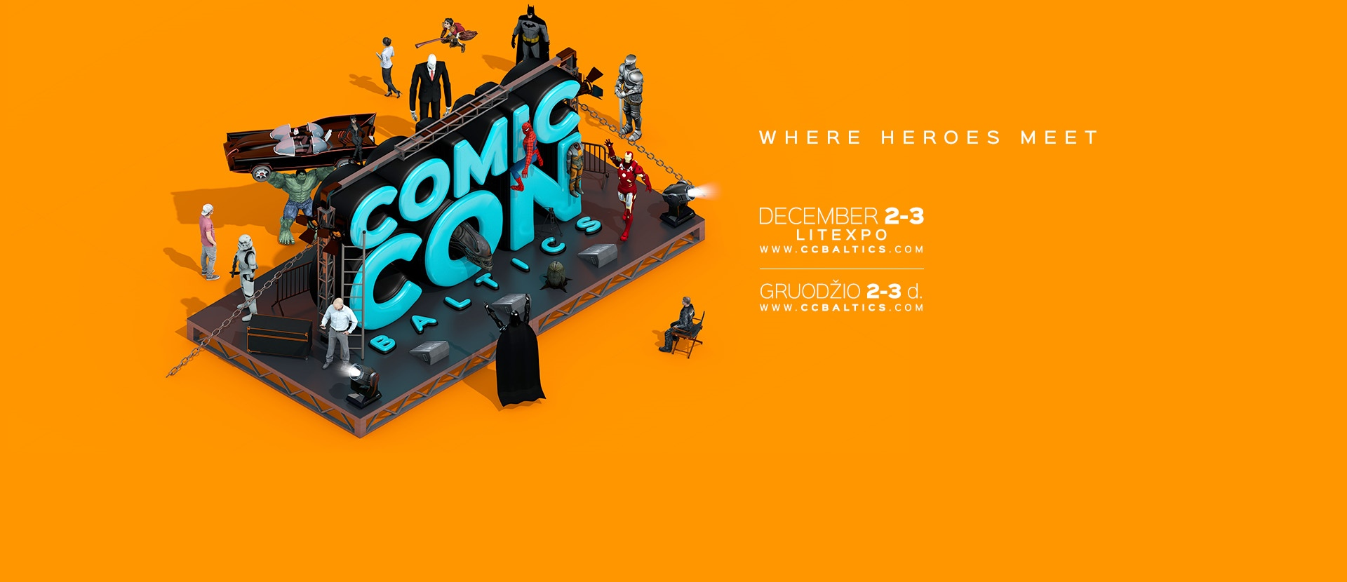 Comic Con Baltics – pop culture event