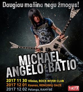 MICHAEL ANGELO BATIO - daugiau mašina negu žmogus!