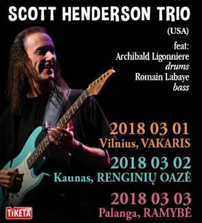 SCOTT HENDERSON TRIO (JAV) koncertas Palangoje