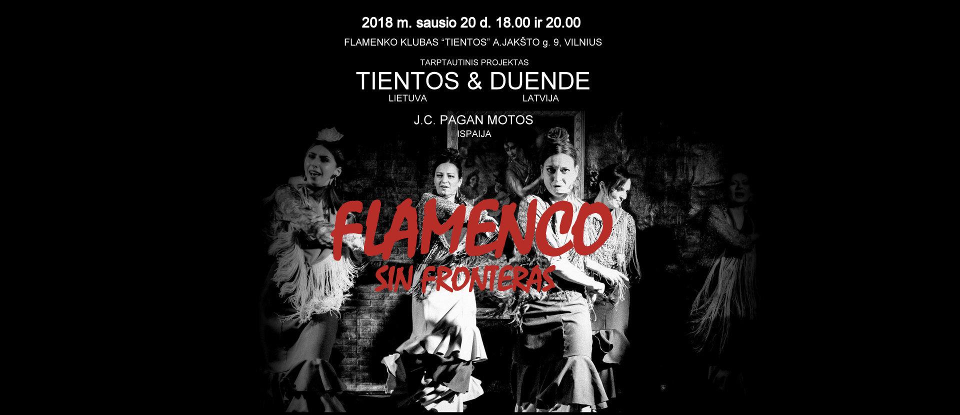 "Flamenko koncertas ""Flamenco sin fronteras"""