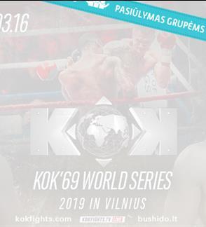 """Pasiūlymai grupėms: Tarptautinis turnyras """"BUSHIDO KOK 2019 Vilnius"""""""
