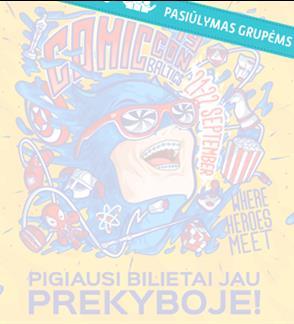 Pasiūlymai grupėms:  Comic Con Baltics