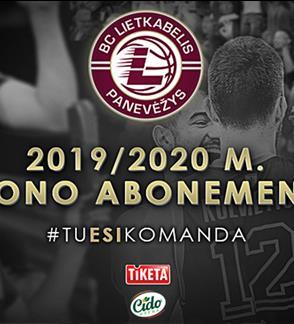 """Krepšinio klubo """"Lietkabelis"""" 2019-2020 metų sezono abonementas"""