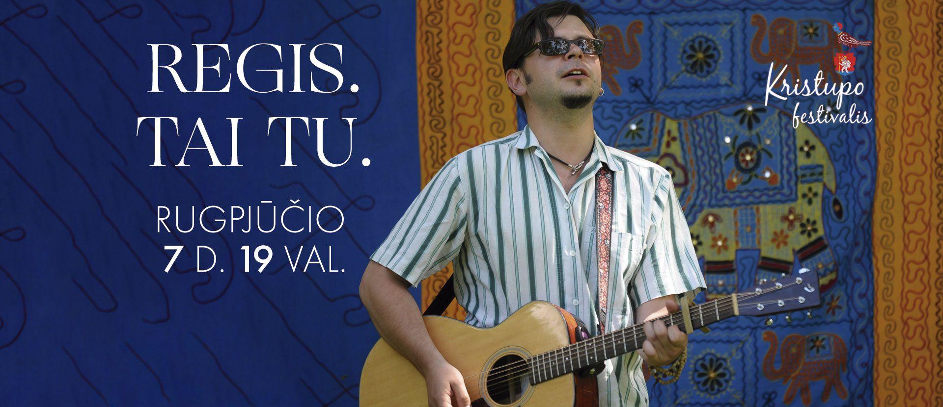 Christopher festival: REGIS. TAI. TU. Nauja Domanto Razausko programa