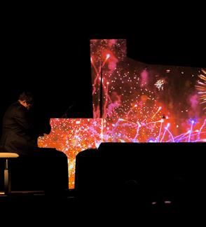 Piano light show by Alexey Botvinov