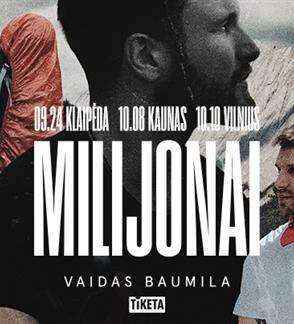 "Vaidas Baumila: albumo ""Milijonai"" pristatymas"