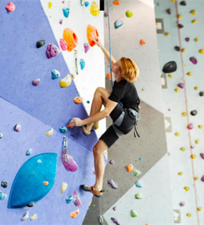 Introductory climbing lesson with a private instructor