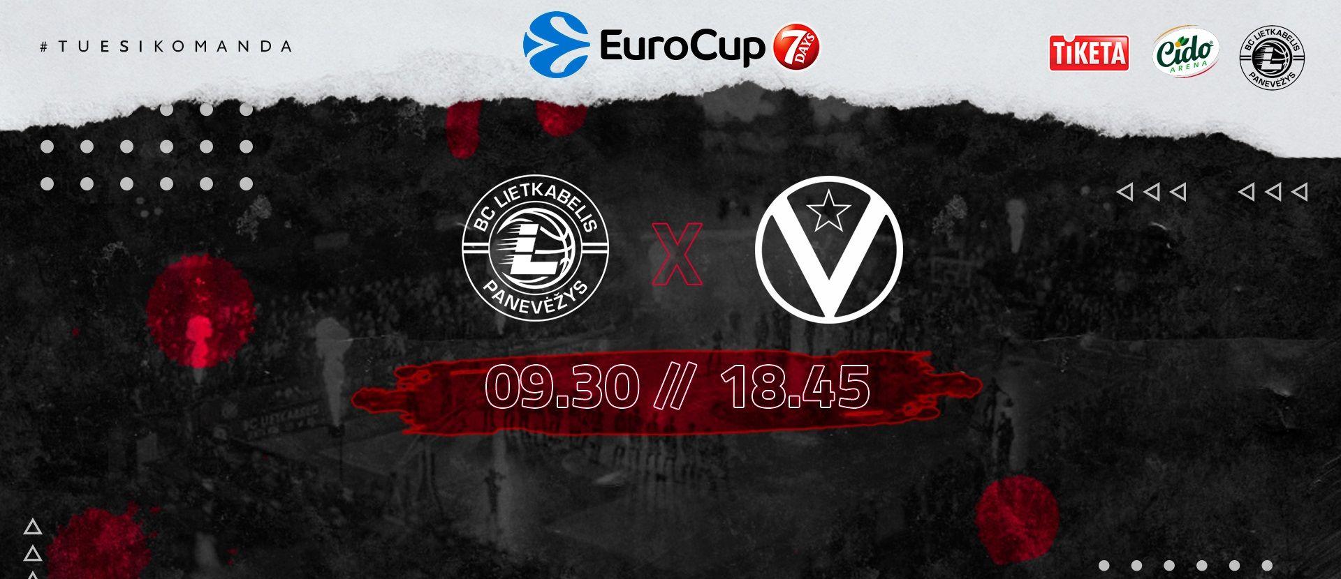 """7 DAYS EUROCUP rungtynės: Panevėžio """"Lietkabelis"""" - Bolonijos """"Virtus"""""""