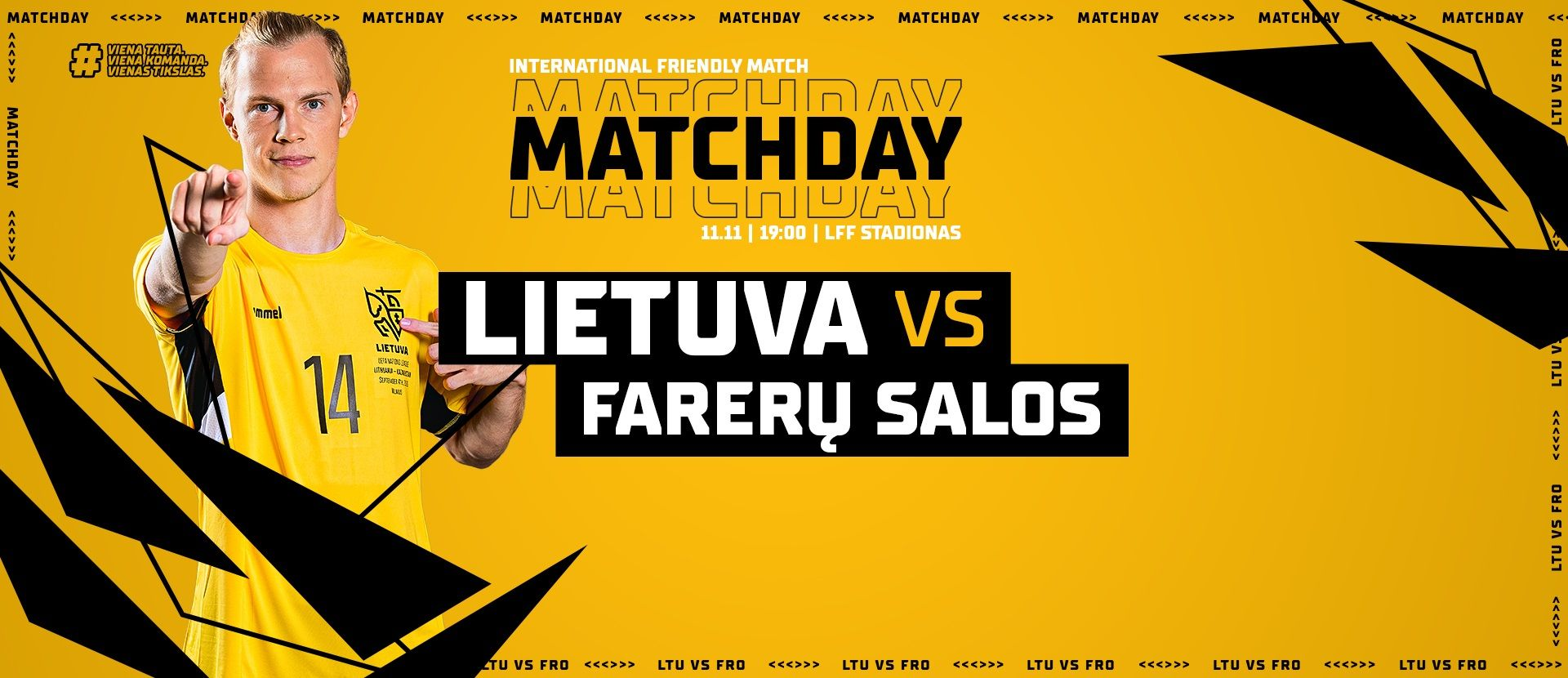 Kontrolinės futbolo rungtynės: Lietuva - Farerų Salos