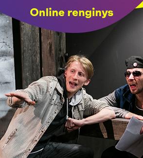 Online: Kauno miesto kamerinis teatras AKMENYS JO KIŠENĖSE (rež. G. Padegimas)