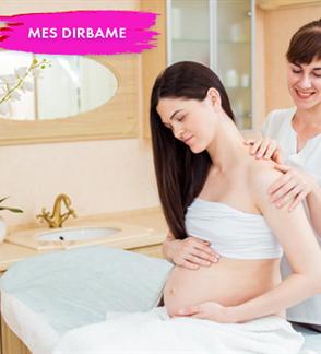 Atpalaiduojantis nugaros masažas nėščiosioms