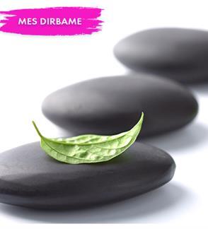 Gydomasis masažas su karštais akmenimis